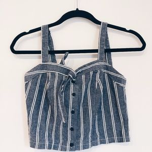 BRANDY MELVILLE NWT Blue & White Striped Crop Top